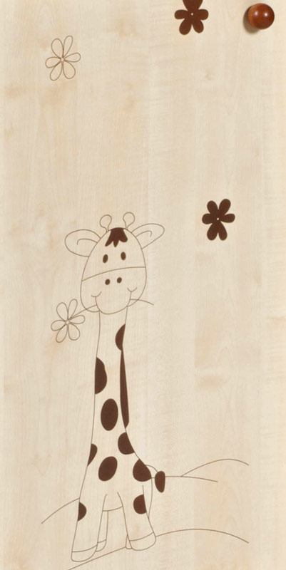 Kombinovaný regál Faktum Makaó Vzor: žirafa