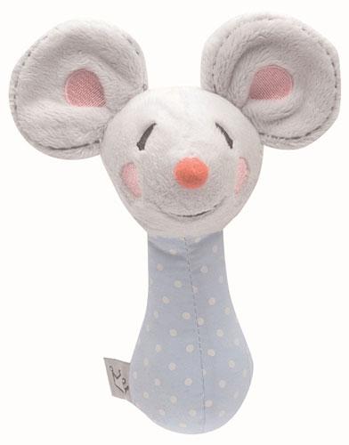Bebe-Jou Plyšová hrkálka Bébé-Jou Myška Little Mice