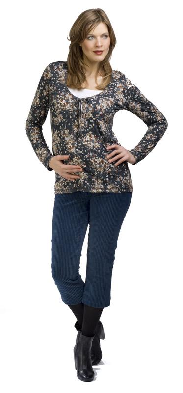 3/4 menčestrové nohavice Rialto Sissy Modré 19235 Dámská veľkosť: 38