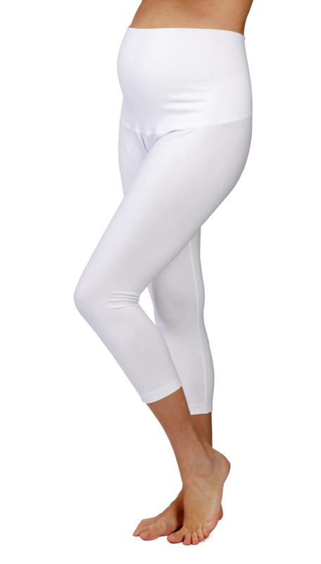 3/4 tehotenské legíny Rialto Ardy biele Dámská veľkosť: 36