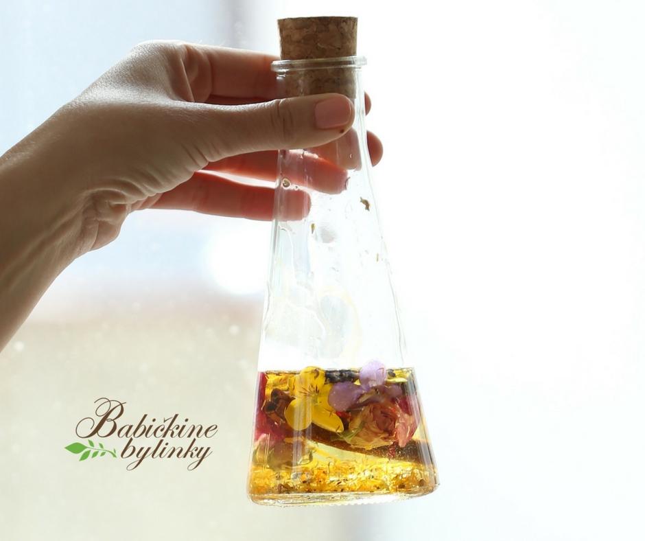 Pleťový olej z fialiek