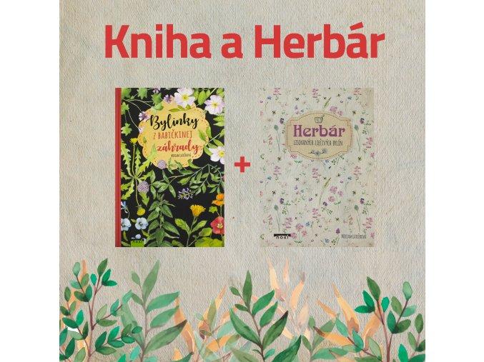 Kniha a herbár babičkine bylinky