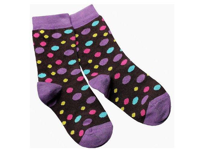 detske ponozky hnede designsocks dekl puntik large