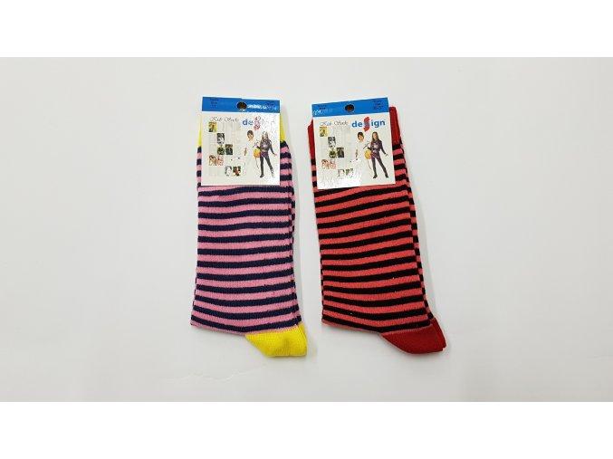 Dětské ponožky - proužky 2 páry