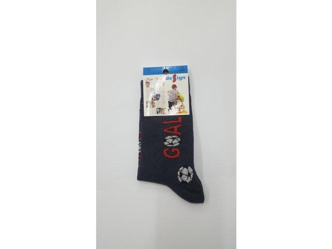 Dětské ponožky gól - tmavě šedé