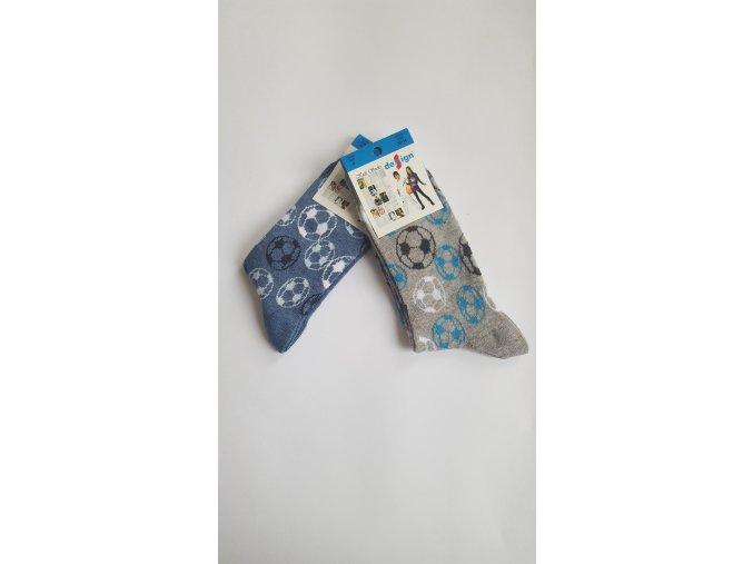 Dětské ponožky - fotbalové míče 2 páry