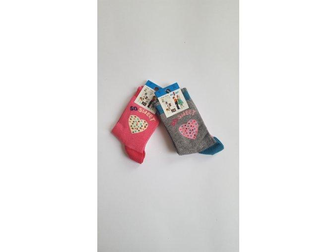 Dětské ponožky - srdce 2 páry