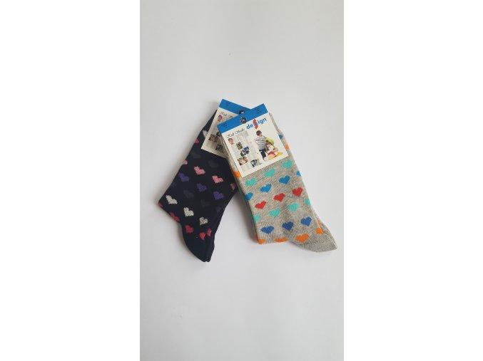 Dětské ponožky se srdíčky 2 páry