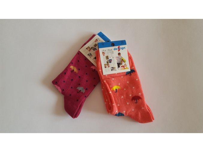 Dětské ponožky s deštníky 2 páry