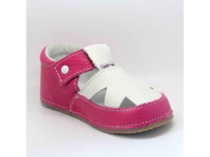15043 sandálek růžovobílé