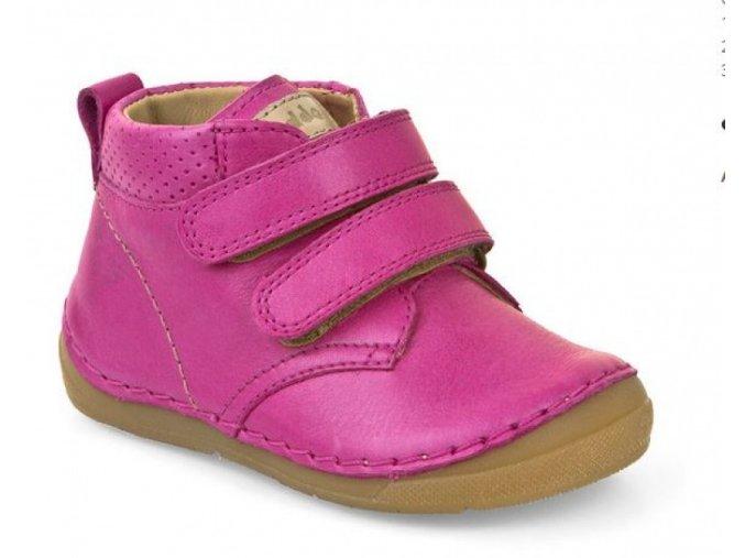 Froddo kožená barefoot obuv G2130132-4 Fuchsia (suchý zip)