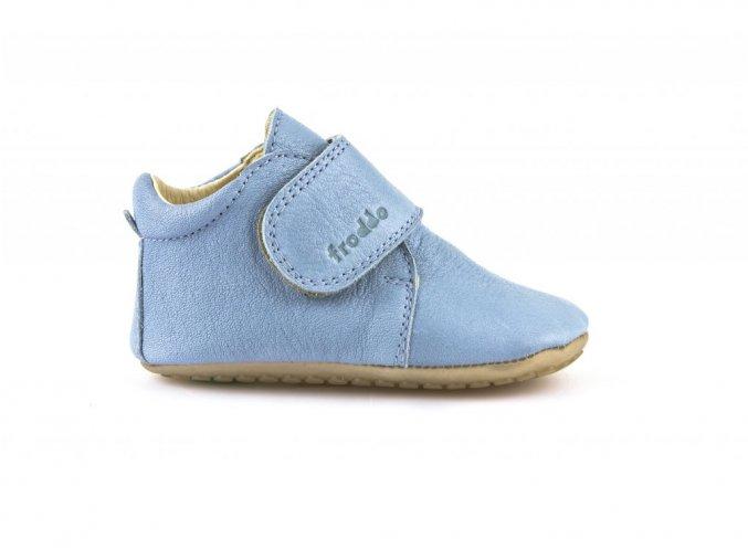Froddo kožené capáčky Prewalkers G1130005-3 světle modré