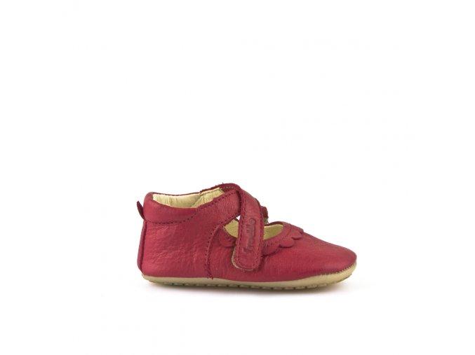 Froddo kožené capáčky/sandálky Prewalkers G1140002-2 červené