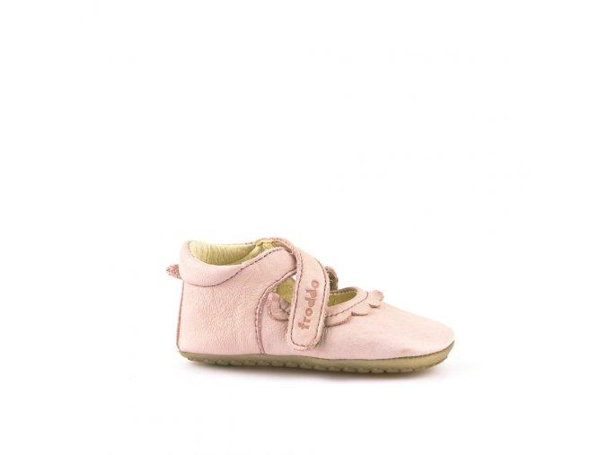 Froddo kožené capáčky/sandálky Prewalkers G1140002-1 růžové