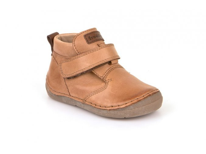 Froddo kožená barefoot obuv G2130147-3 hnědé (suchý zip)