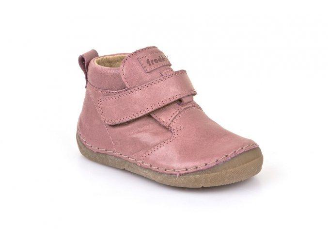 Froddo kožená barefoot obuv G2130147-7 růžové (suchý zip)
