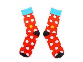 Toe Story barevné ponožky White Toe