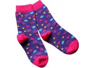 detske ponozky fialove designsocks dekl puntik large
