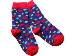 detske ponozky modre designsocks dekl puntik large