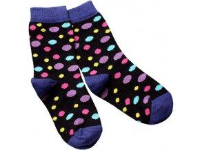 detske ponozky cerne designsocks dekl puntik large