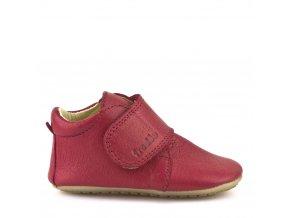 Froddo kožené capáčky Prewalkers G1130005-6 červené