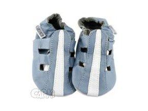 kozene capacky sandalky modre 0