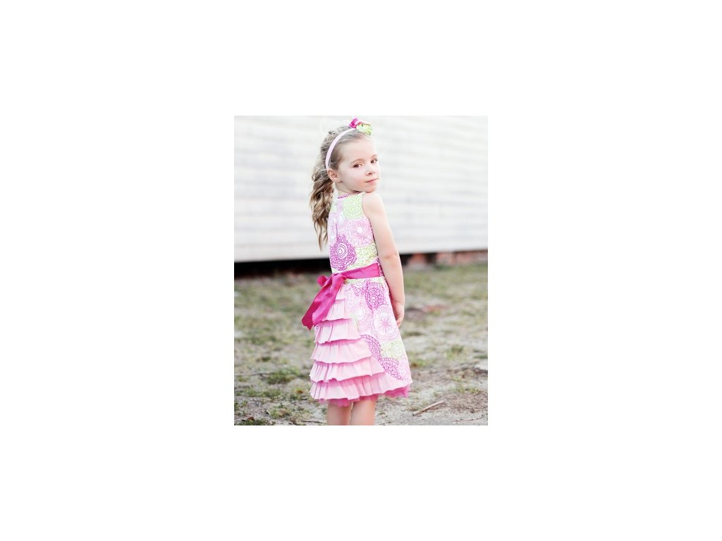 RuffleButts - Fancy Ruffled-back Sun šaty