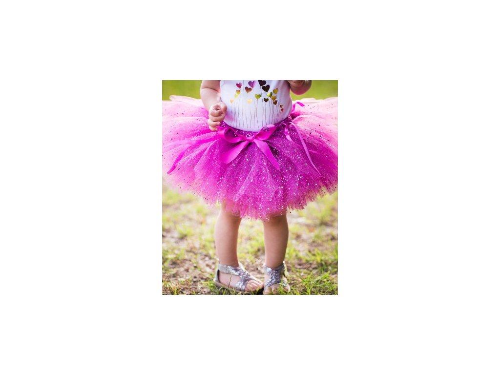 RuffleButts - Plum Sparkle Tutu sukňa