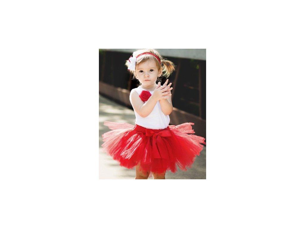 RuffleButts - Red Tutu sukňa