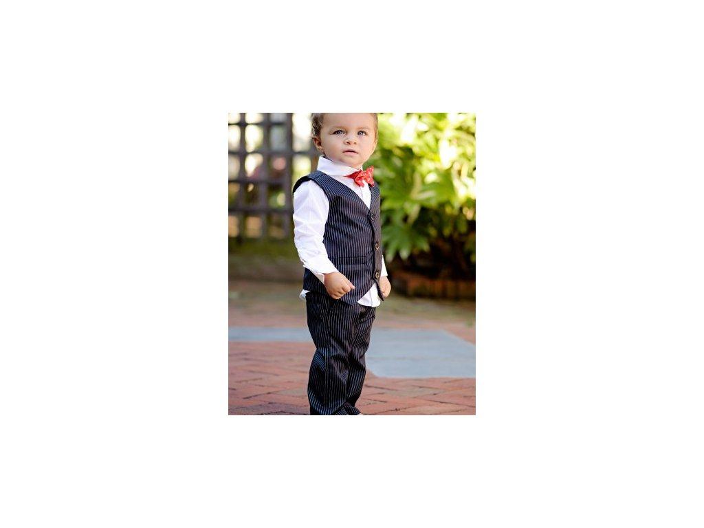 RuggedButts - Black Pinstripe Pants nohavice