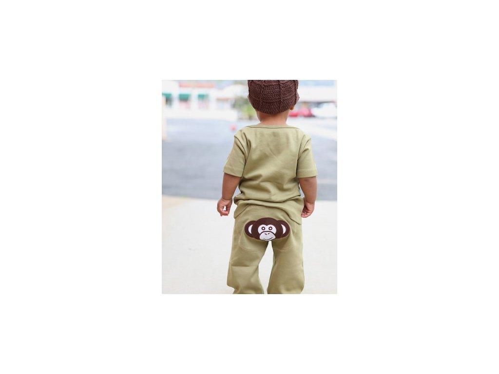 RuggedButts - Olive Monkey Knit Crawler tepláky