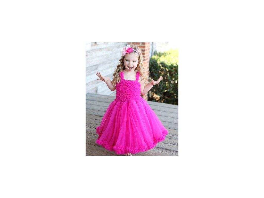 RuffleButts - Raspberry Princess Petti šaty