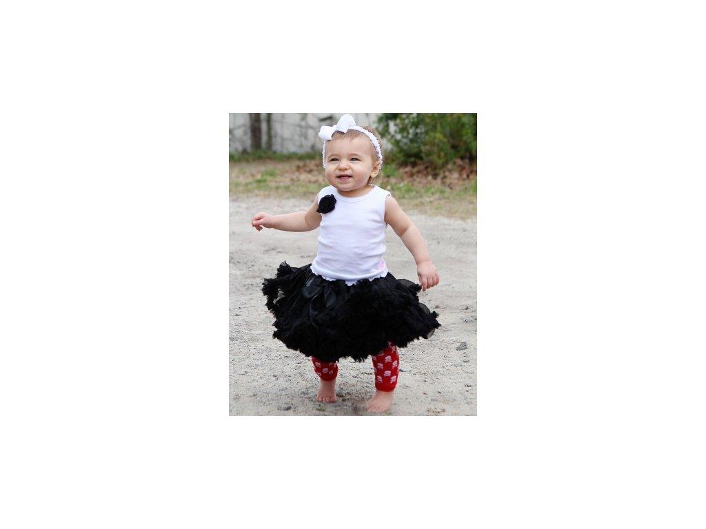 RuffleButts - Black PettiSkirt sukňa