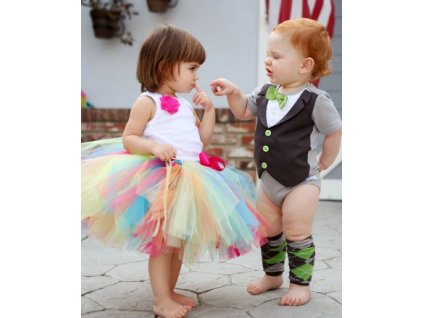 RuffleButts - Rainbow Tutu sukňa