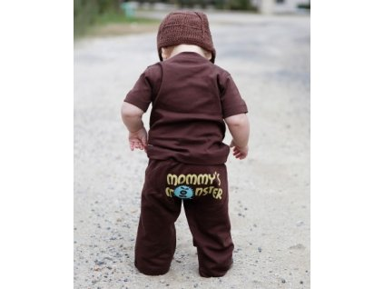 RuggedButts - Brown Mommy Monster Crawler tepláky