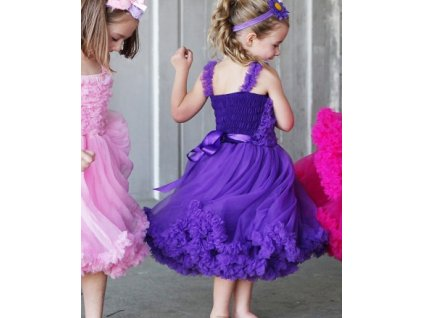 RuffleButts - Purple Princess Petti Dress šaty