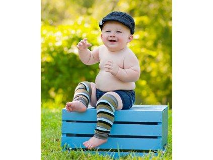 RuggedButts - Gray 3 Stripes You're Out LegWarmers návleky na nohy