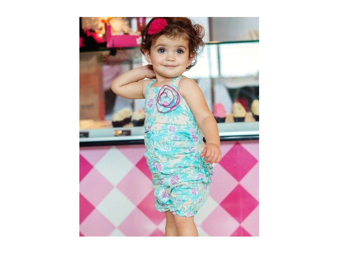 RuffleButts - Allie Rouched Romper body
