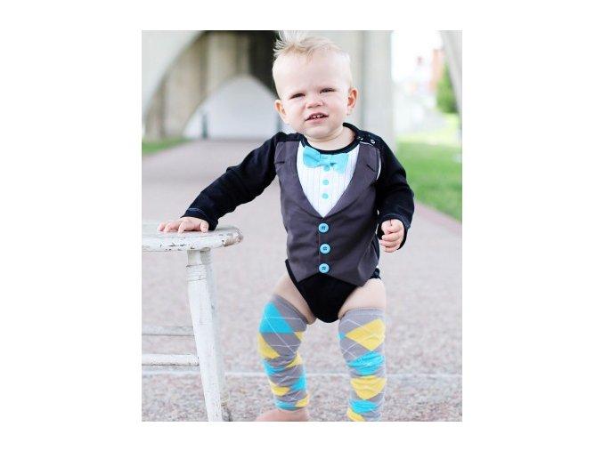 RuggedButts - Blue Tie Tux Bodysuit