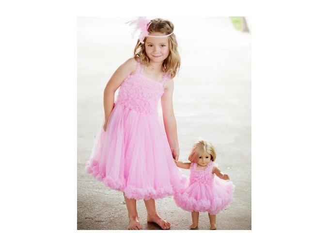 RuffleButts - Pink Princess Petti Dress šaty