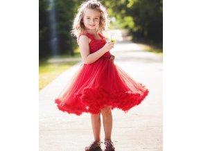 RuffleButts - Red Princess Petti šaty