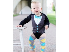 RuggedButts - Blue Tie Tux Bodysuit