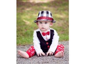RuggedButts - Red Tie Tux Bodysuit