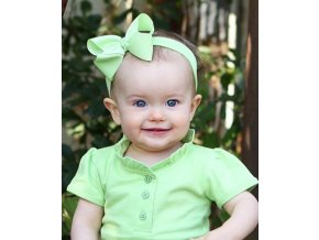 RuffleButts - Lime Bow čelenka