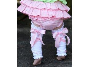 RuffleButts - Pink Ballet Bow Legwear návleky na nohy
