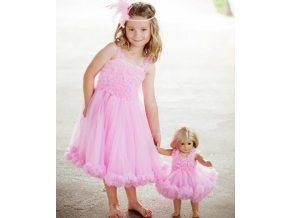 RuffleButts - Pink Princess Petti Dress šaty