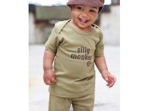 RuggedButts - Olive Silly Monkey Knit tričko