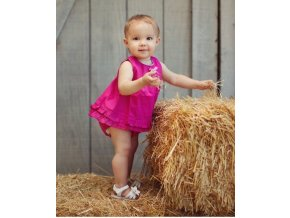 RuffleButts - Fuchsia Swing Top