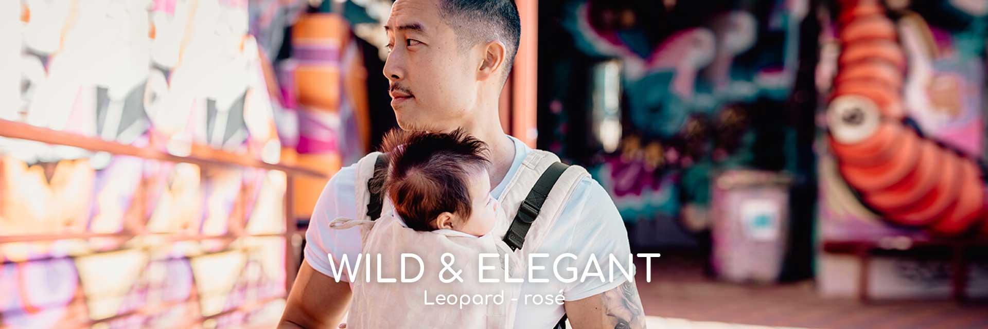 Nové nosítka Fidella Leopard rosé
