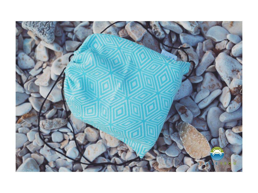 batůžek little frog turquoise cube 2